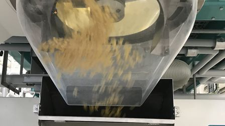 The part of the equipment where the pasta is pushed through making the correct shape. Pic: Victoria