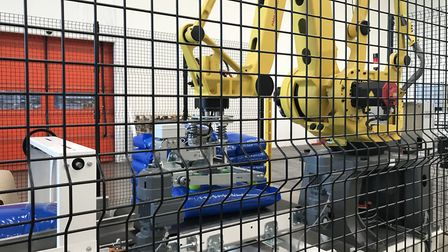 The robotic equipmenbt which packs the pasta and even lifts it onto pallets. Pic: Victoria Pertusa,