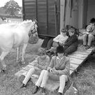Youngsters enjoying a break at Thetford Horse show pic taken 6th june 1968