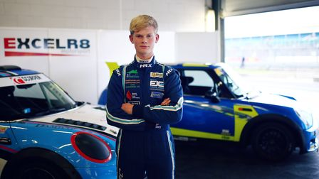 Shipdham racer James Hillery who will be aiming to secure the MINI Cooper Pro title this year with t