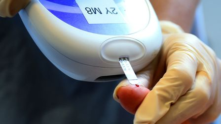 A nurse gives a patient a diabetes test. Research by the University of East Anglia has highlighted t