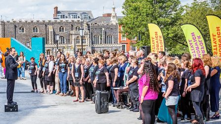 Invidia Voices will perform with Take That at Carrow Road. Photo: Raymond Taylor