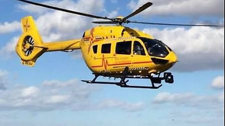 The East of England Air Ambulance were called to Hunstanton after a teen became ill at home. Picture