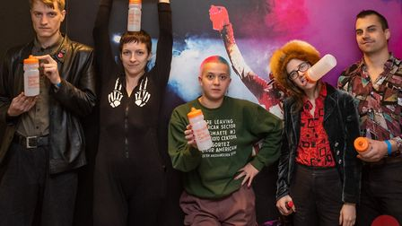 Brooklyn based band BODEGA who were the first band to get the bottles. Picture: Norwich Arts Centre