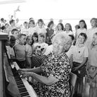 Mary Brown as she prepared to retire from Swanton Morley school in 1989. She told us, about her 35 y