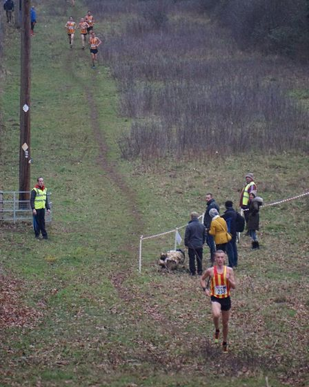 Logan Smith out in front at the Norfolk Cross Country Championships. Picture: Logan Smith