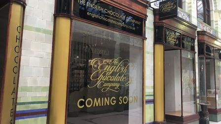 The new English Chocolate Company shop which is opening soon in the Royal Arcade, Norwich. Pic: Ar