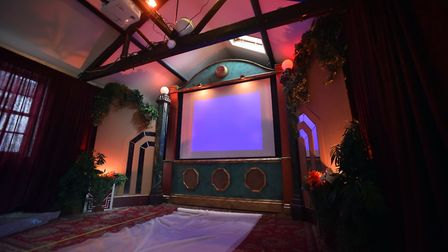 The former brewery at the Reindeer Pub has been turned into an art deco pop-up cinema, Norwich. PICT