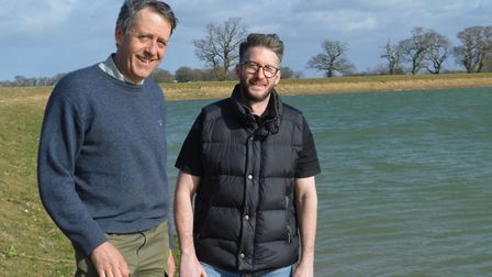 Norfolk farmers Nick Deane (left) and Gavin Paterson are concerned about the potential loss of their