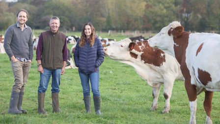 Farmer Jonny Crickmore (left) and wife Dulcie, supply raw milk from their herd to Foulgers Dairy Pi