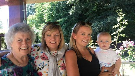 Four generations; Brenda who is Valerie Watson-Brown's mum with daughter, Faye and baby Maisie. Pic: