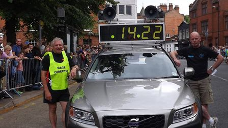 Richard Polley and Granville Courtnell with the Lord Mayor's 5K lead vehicle. Picture: Richard Polle