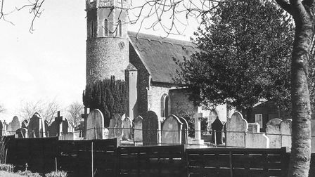 Acle Church caught in a brief burst of spring sunshine, March 19, 1987 . Photo: Archant Library