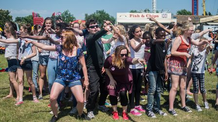 A flash mob by the National Youth Theatre at a previous Royal Norfolk Show. Photo: Autumn Lewis.