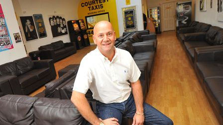 Mark Streeter, owner of Norwich taxi company Courtesy Taxis. Photo: Simon Finlay