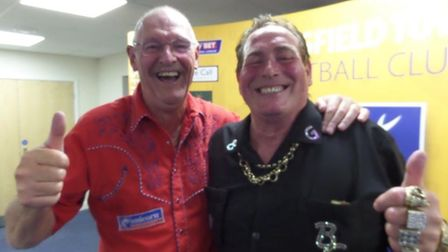 Darts legends Bob Anderson and Bobby George will be appearing in a darts and chat show in Watton. Pi
