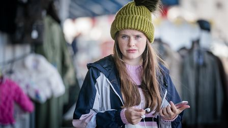 Imogen King as Abbie Armstrong, police officer's daughter and drug mule (C) ITV