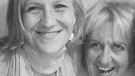 Sisters through thick and thin: Angela Ward, left and Claire Husband. Pic: Angela Ward.