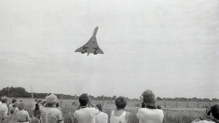 Concorde at RAF Coltishall, 11 July 1987. Photo: Archant Library
