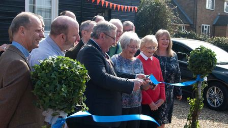 Mayor of King's Lynn and West Norfolk, Nick Daubney cutting the ribbon Picture: NORTH WOOTTON VILLA