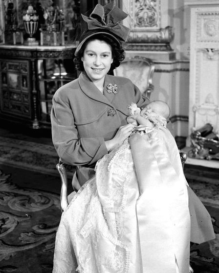 A girl could be named after the Queen, pictured after the birth of Prince Charles in 1948 Picture: