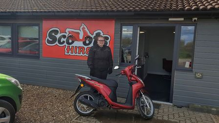 Charlotte Hayes, 18, of Dereham, who uses a Scoots Hire vehicle to get to and from work. Picture: Su