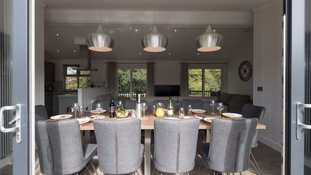 The lodges have five bedrooms, and have been built in response to the staycation boom. Picture: Darw