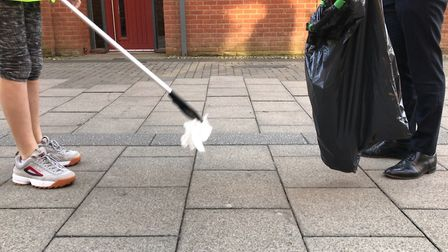 Year 9 Jane Austen students litter pick to clean up the city