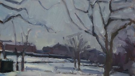 Snow in the Park, by Cromer-based aritst Paul Darley.