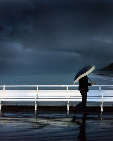 Going Home, a view of Cromer pier by photographer David Morris.