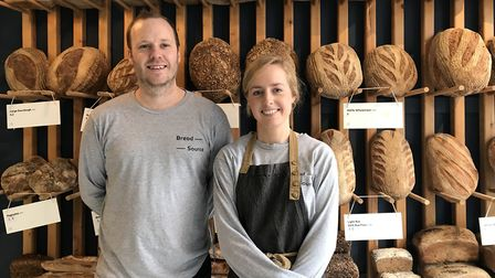 Owner of Bread Source, Steve Winter, and General Manager, Isabel Brentnall, inside their Bread Sourc