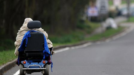 A bus had to take action to avoid hiting a mobility scooter. Picture: Anthony Devlin/PA Wire