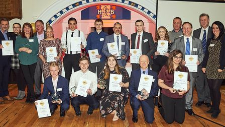 City College Norwich's 2019 Apprenticeship Awards at the ceremony at the Great Hospital. Picture: An