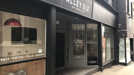 The former Alley Olé restaurant in Norwich. Photo: Lauren Cope