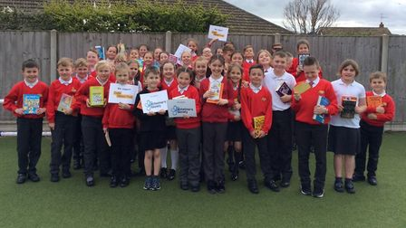 Some Key Stage 2 children at Corton Primary School took part in a sponsored silence and raised £700