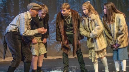 Gresham's School students performed The Lion, the Witch and the Wardrobe at Greshams Schools Auden