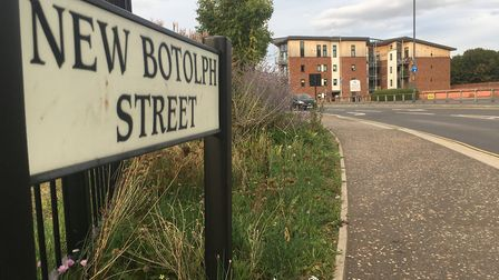 New Botolph Street, Norwich, where a teenager was the victim of a knifepoint robbery on Saturday (Se