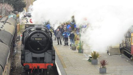 North Norfolk Railway's spring Steam Gala at Sheringham station. Pictured is the Black Prince steam