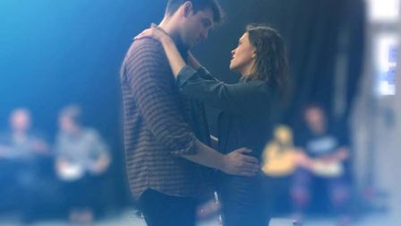 Ghost the Musical rehearsals