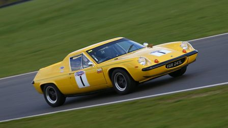 Norwich racer Malcolm Johnson with his Lotus Europa who led, for a short while, the Swinging Sixties