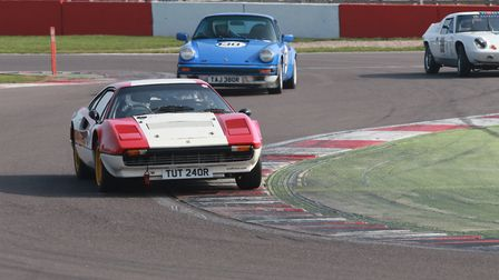 Fressingfield's John Dickson in his Ferrari 308GTB holding off the challengers to him winning the op