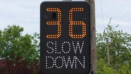 A Speed Awareness Message (SAM2). Pic: Norfolk County Council.