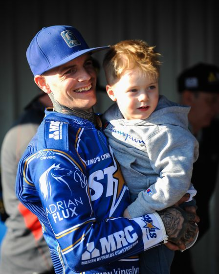 Lewis Kerr with his son Cooper Picture: IAN BURT PHOTOGRAPHY
