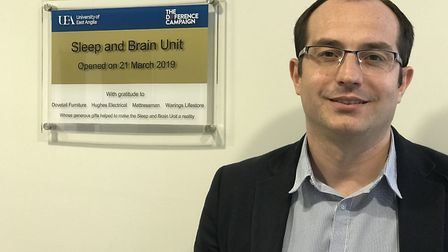 A new sleep research unit has opened at the University of East Anglia (UEA). Pictured, lead research
