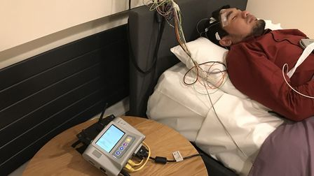 A new sleep research unit has opened at the University of East Anglia (UEA). Pictured, PHD student Z