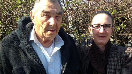 Mr Blowers, pictures with his daughter-in-law Lisa Jay, from Bungay help people of all ages with the