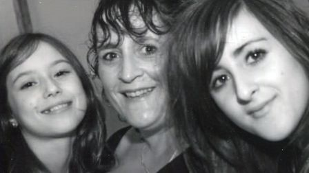 Annie Smith with her daughters Miranda (left) and Olivia. Picture: Sara Lock