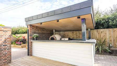 Rose Bungalow has its very own outdoor kitchen. Picture: Warners