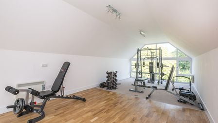 A gym space above the garage. Picture: Warners