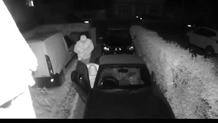 Five cars were broken into overnight in Beccles. Picture: Contributed